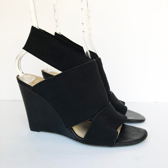 06136c552d6 Vince Camuto | Xylia Black Elastic Wedge Sandal